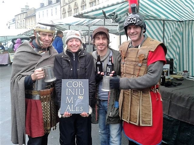 Launch day in November 2012, complete with two Roman Centurions!
