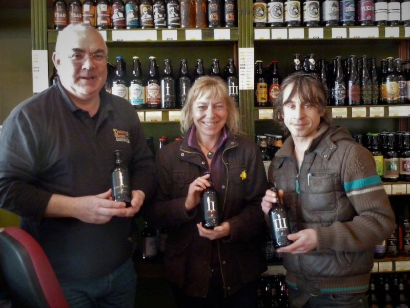 Our first shop delivery in 2013 to Leigh at Favourite Beers, Cheltenham