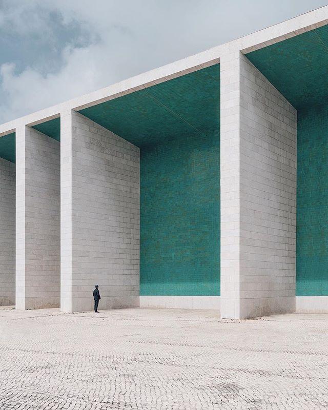 Where the ocean meets the sky... Architecture by Álvaro Siza Vieira circa 1998