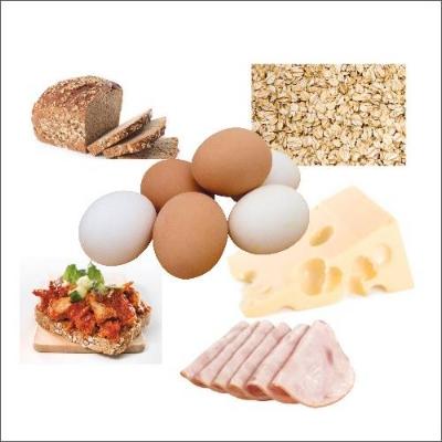 Frokost: 1 glass melk eller juice, egg, grovt brød med pålegg, havregrøt, kornblanding, omelett, knekkebrød, omega 3.
