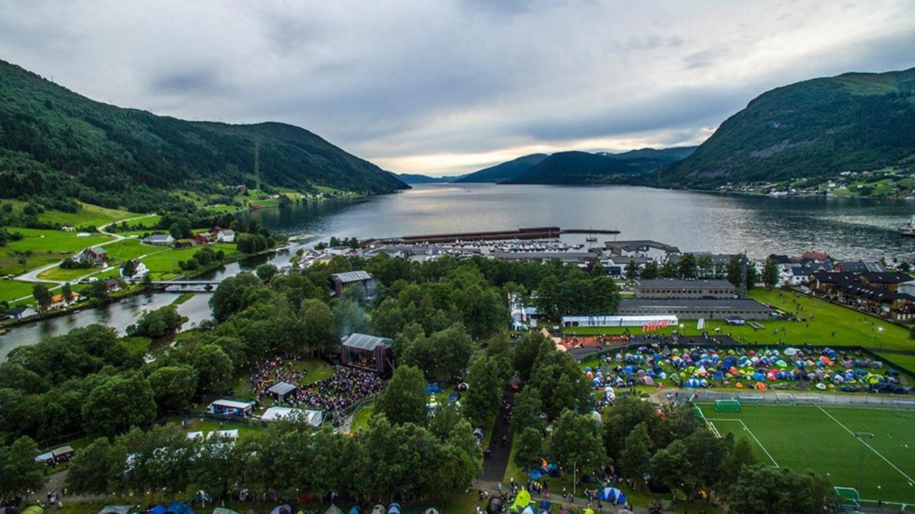 Oversiktsbilde av festivalområdet