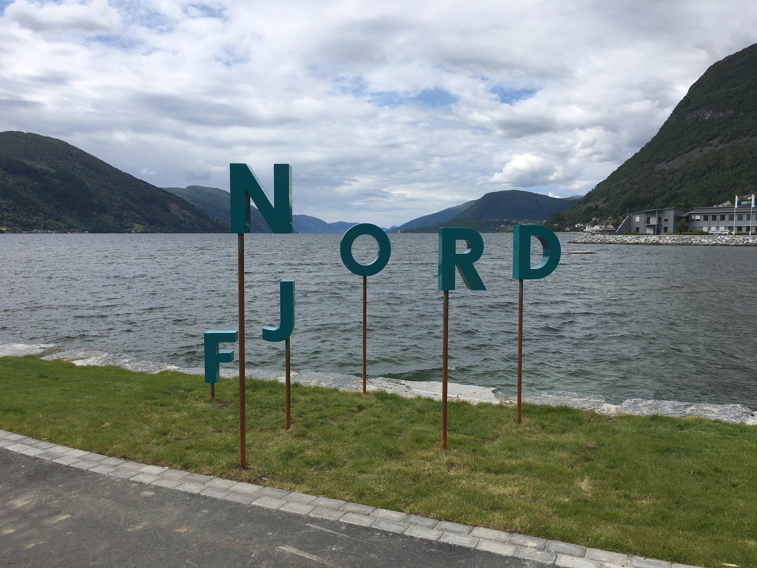 New Nordfjord logo at Nordfjordeid