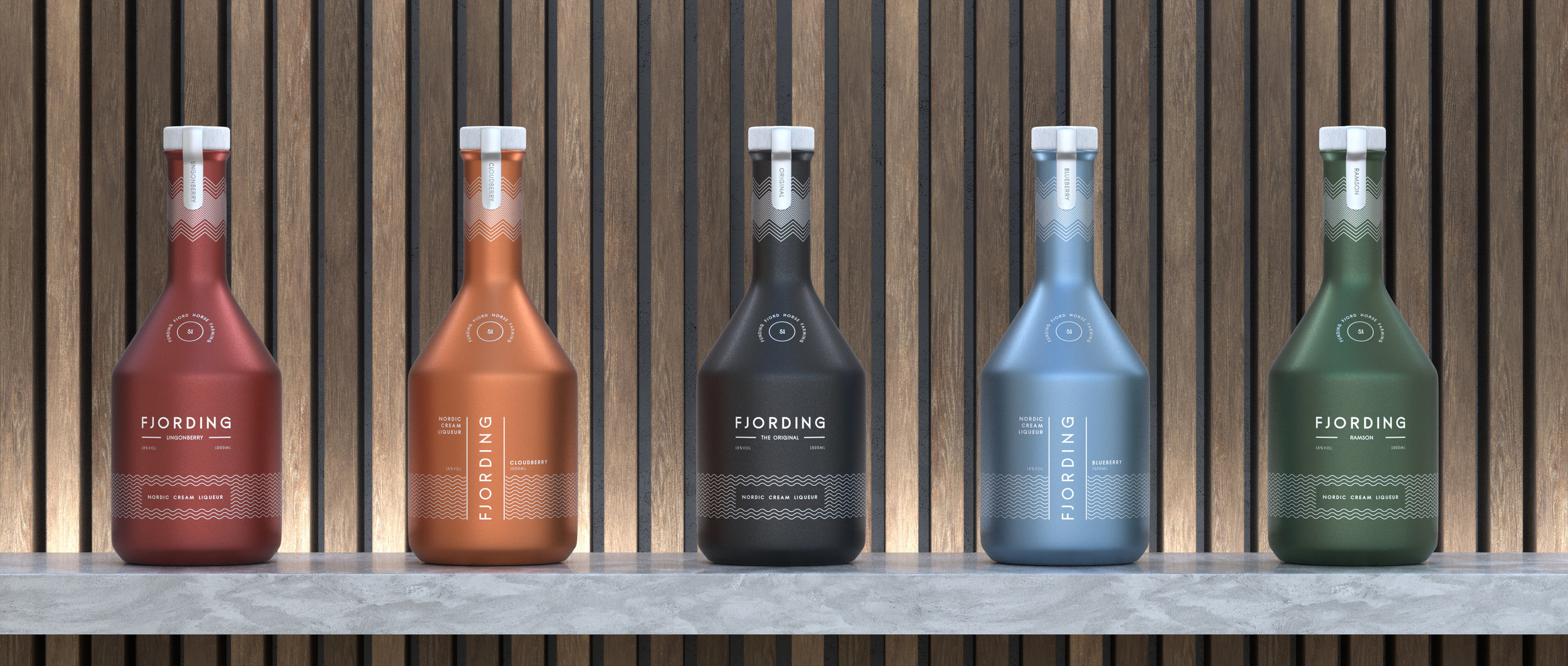 Fjording is going to develop and launch a variety of cream liqueurs based on Nordic ingredients. The picture above is an early design sketch of potential future bottles.