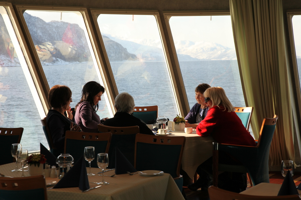 - Would you like a Fjording cream liqueur while we sail into Trollfjorden?  I love that sentence :)    Photo: Axel M. Mosler/Hurtigruten