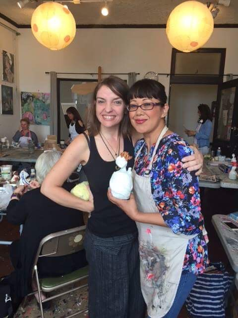 This sweet girl and I got to create here together and again at Kara's studio - what a treat.  Thank you Jen