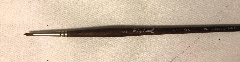 Raphael Precision #2 Pointed Round Paint Brush