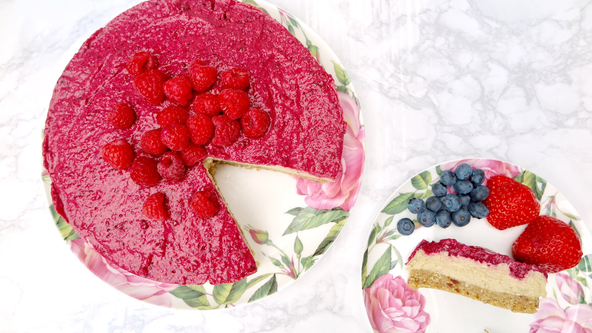 vegan lemon and berry cheesecake recipe