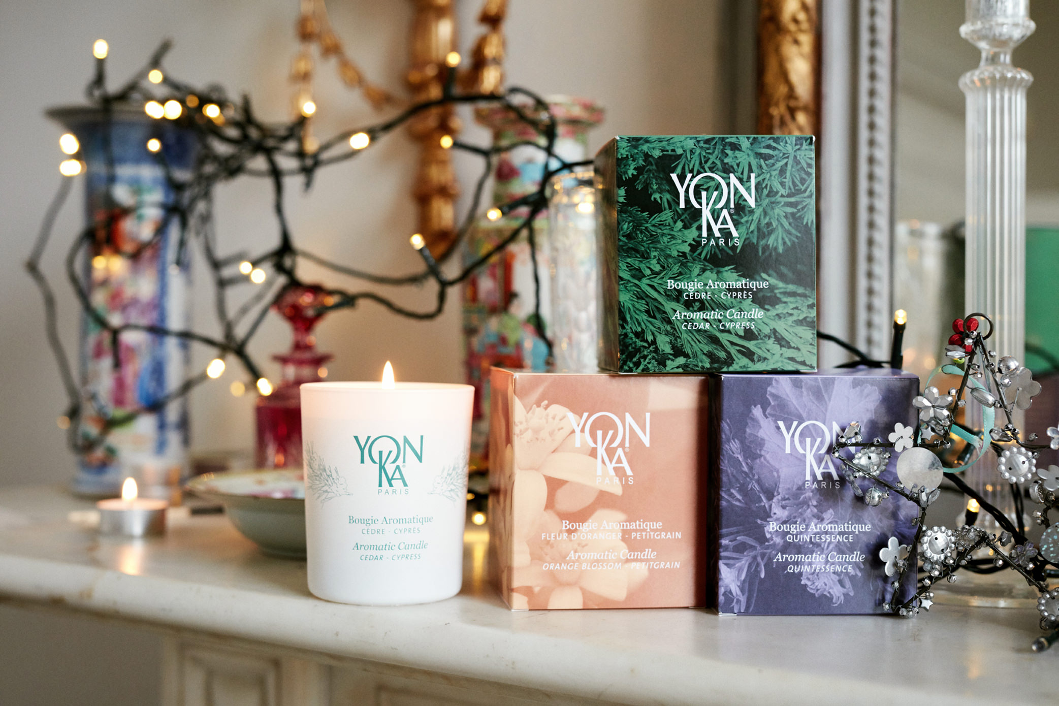 Yonka Christmas Gift Holly White Yonka Candles