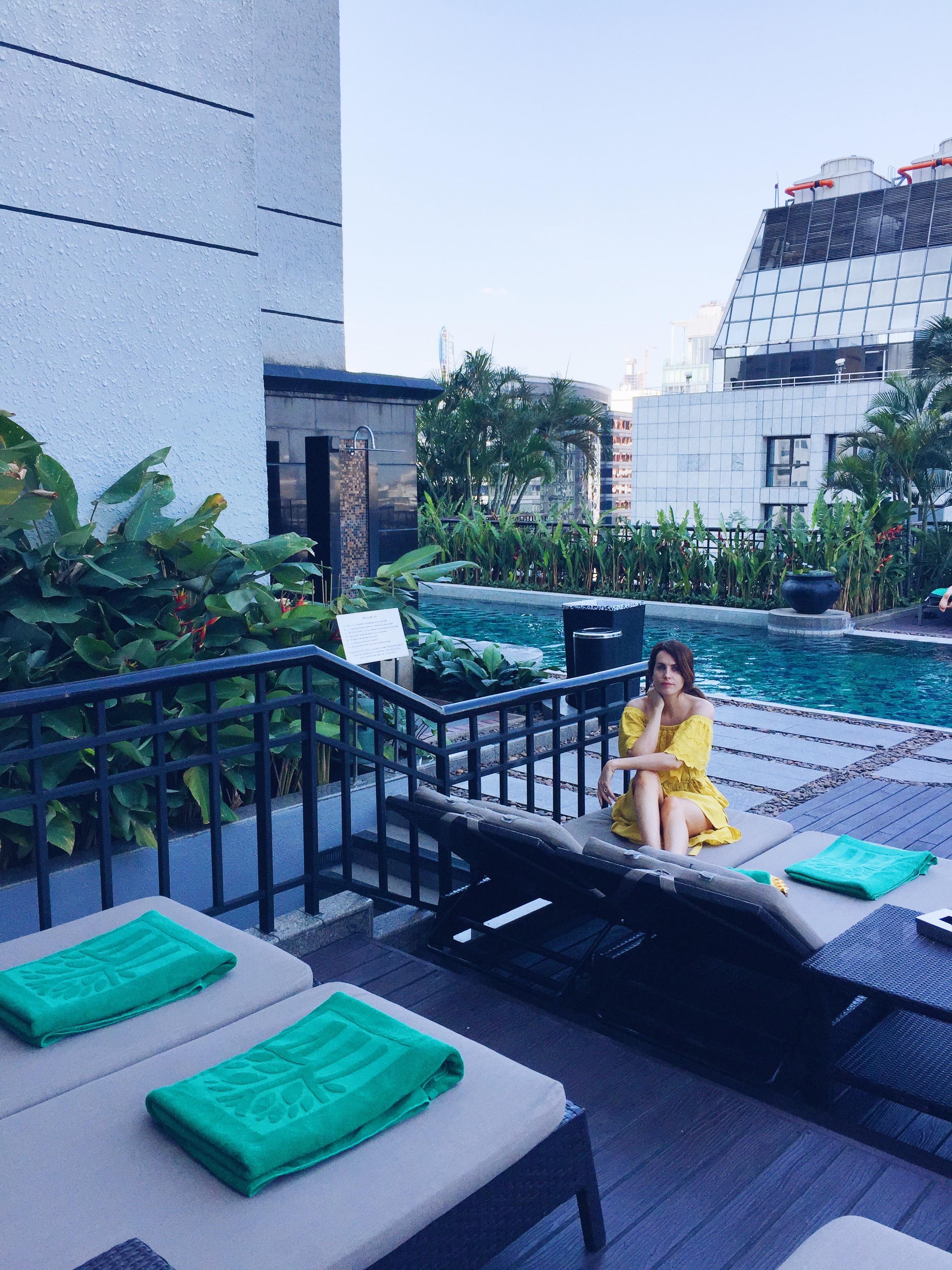 cute yellow dress, Holly White, Banyan tree hotel, Bangkok