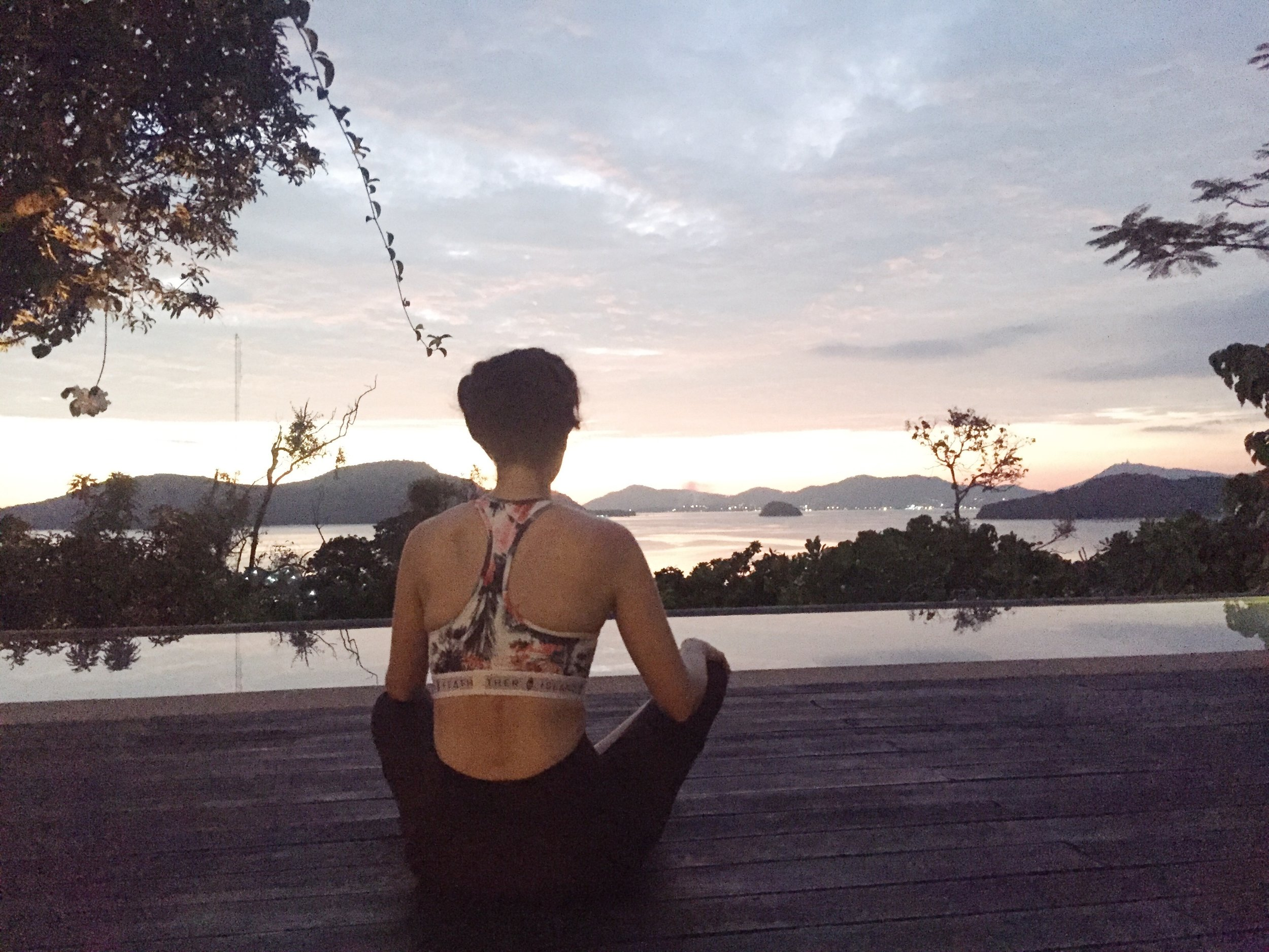 Meditation Holly White, Thailand Honeymoon, yoga