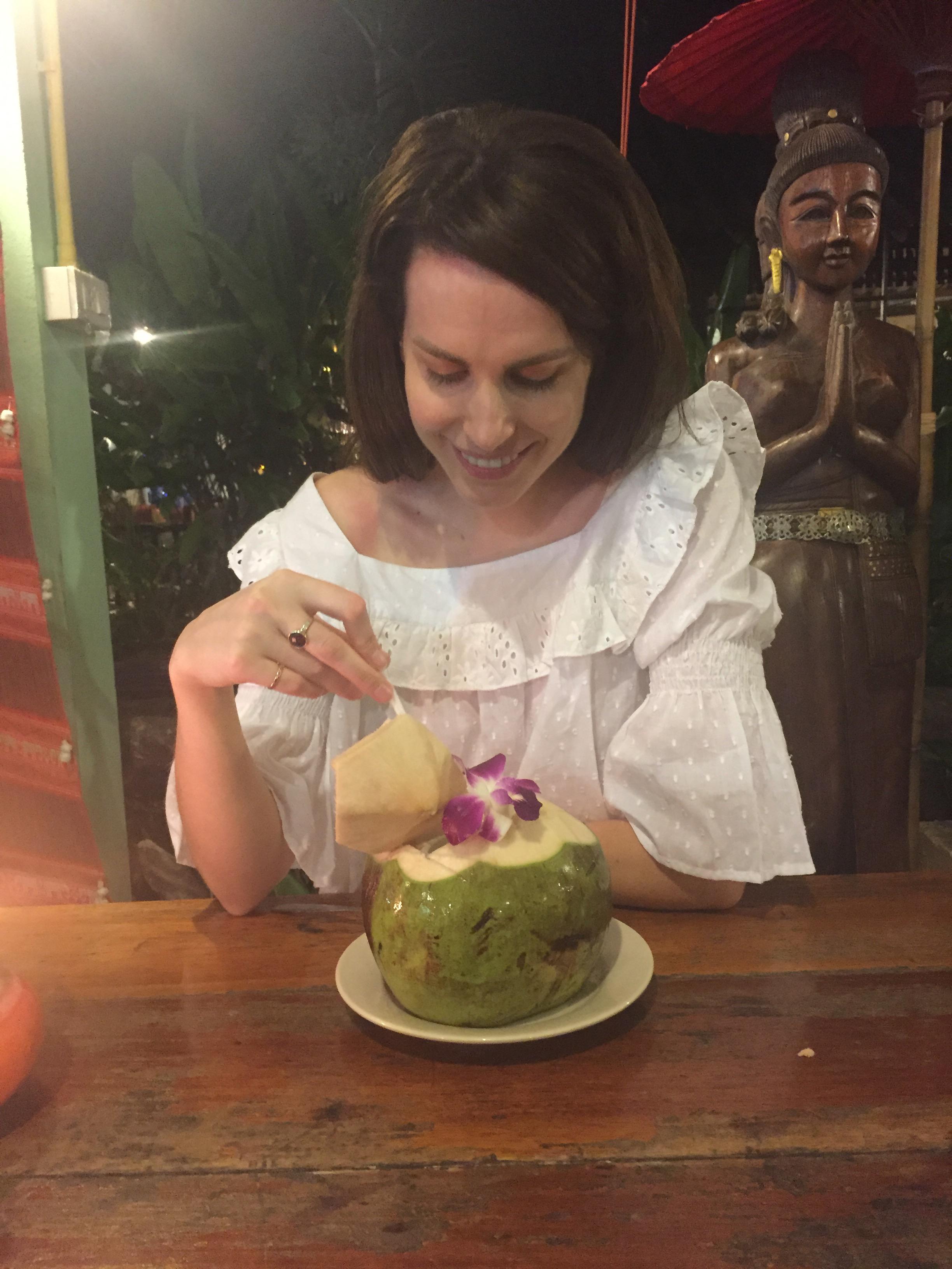 Holly White, Thailand honeymoon