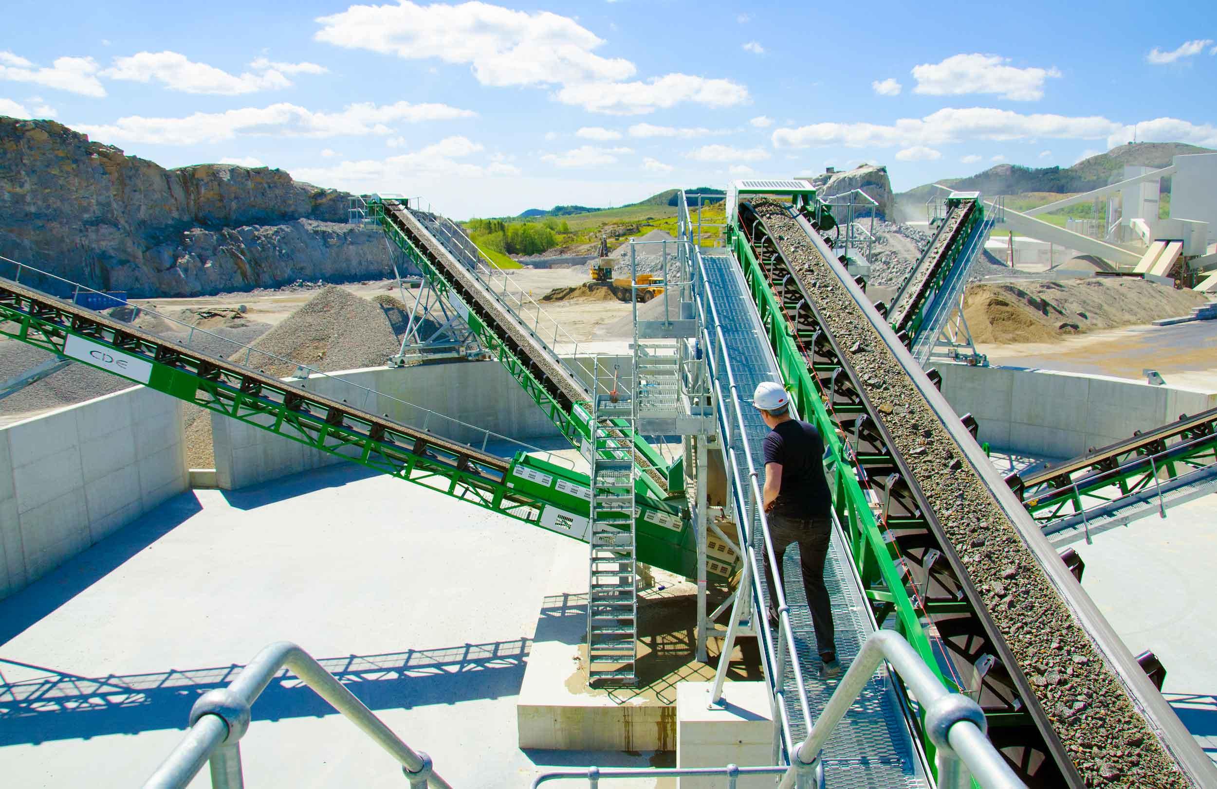 Miljøanlegget som vasker og sorterer gravemasser og gir tilbake høyverdige råstoffer som ellers hadde blitt deponert.