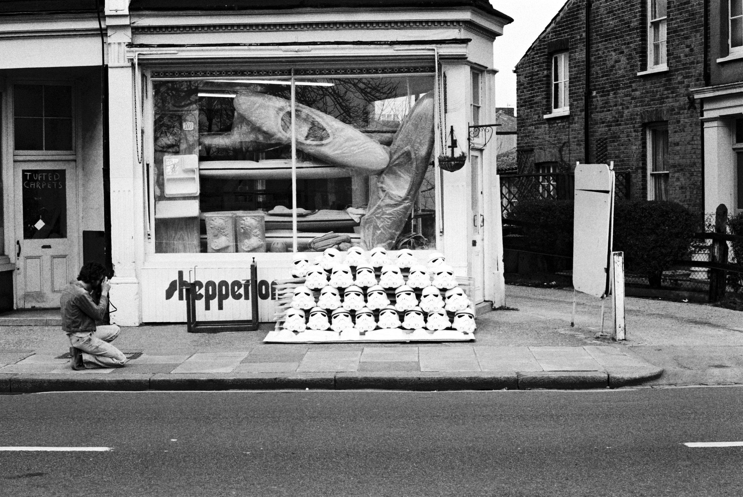A Ainsworth 1976, outside Shepperton Design Studios.