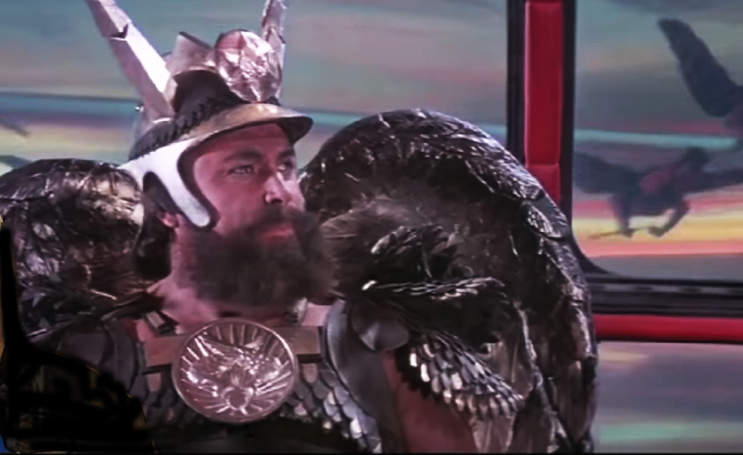 Flash Gordon - Brian Blessed played a main character as Prince Vultan, dressed in a spectacular costume with enormous wings and feathers made by Andrew and his crew.The production company was Starling Productions Ltd, using Shepperton Studios as the main production studio, and the famous Italian director Dino de Laurentis.