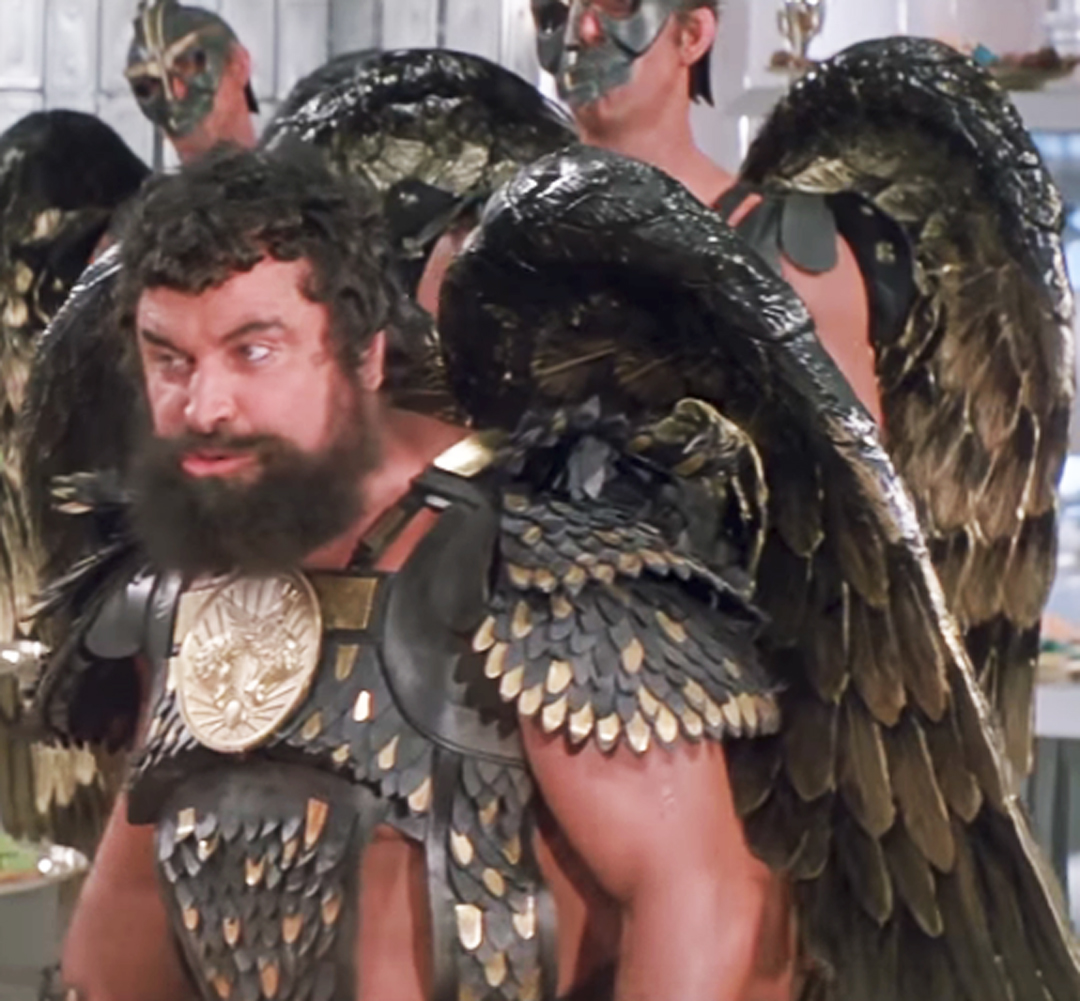 - There were large feathers that were used to make the main structure of the wings, smaller feathers for infilling and even smaller feathers for body armour as worn by Brian Blessed paying Prince Vultan.