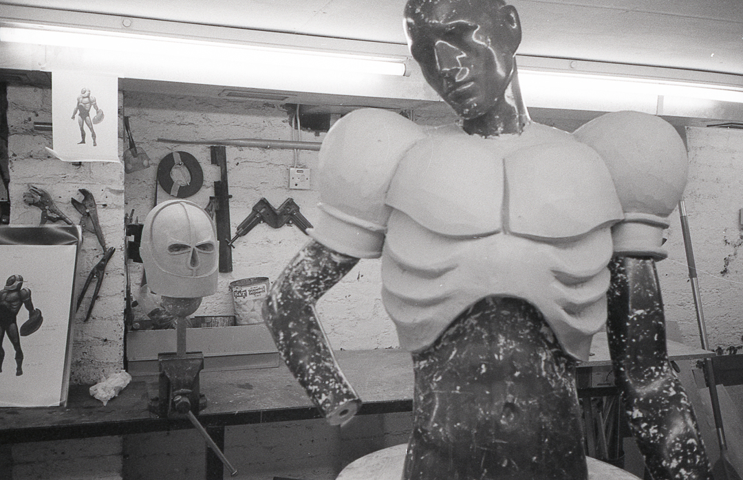 - A plaster impression was taken from the body, from which Andrew cast vacuum forming tools from the various sections.
