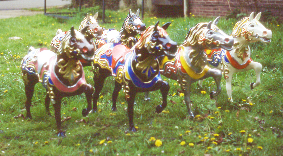 - Andrew Made 8 of the horses in a variety of colours.