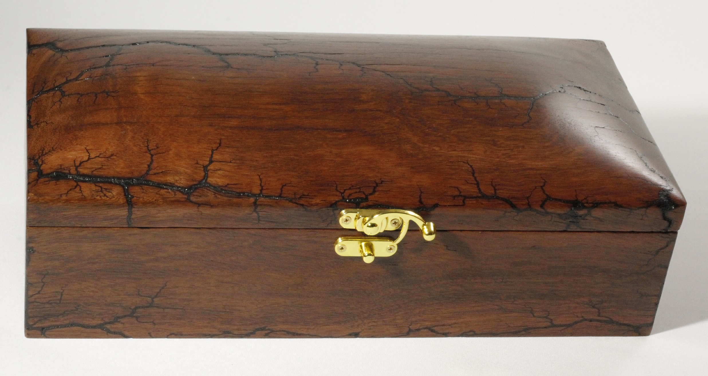 Jarrah Chest with Fractal Burning and Swing Clasp
