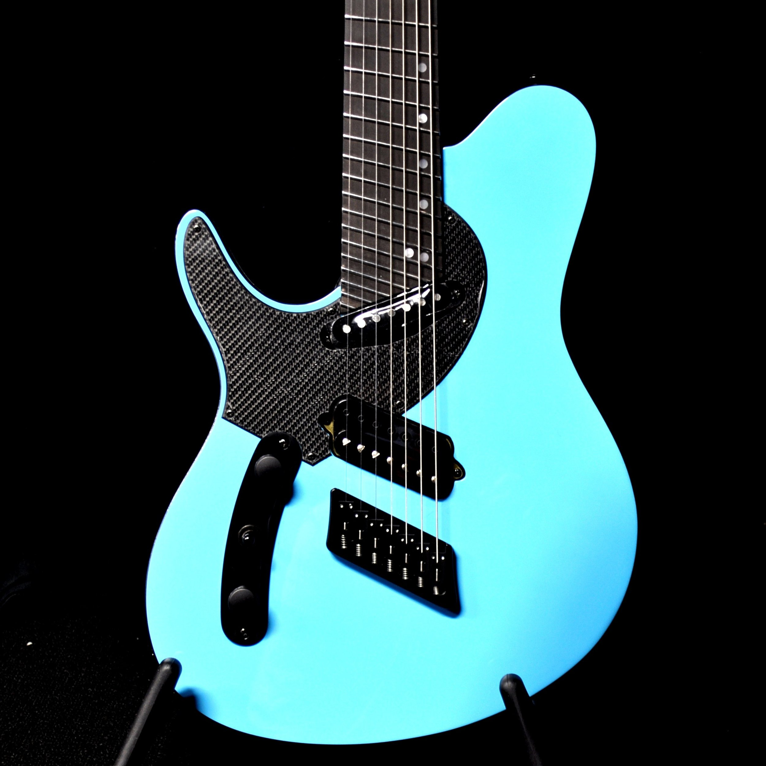 An Ormsby TX GTR 7-String Multi-scale - left handed model that costs the same amount as the right handed model!