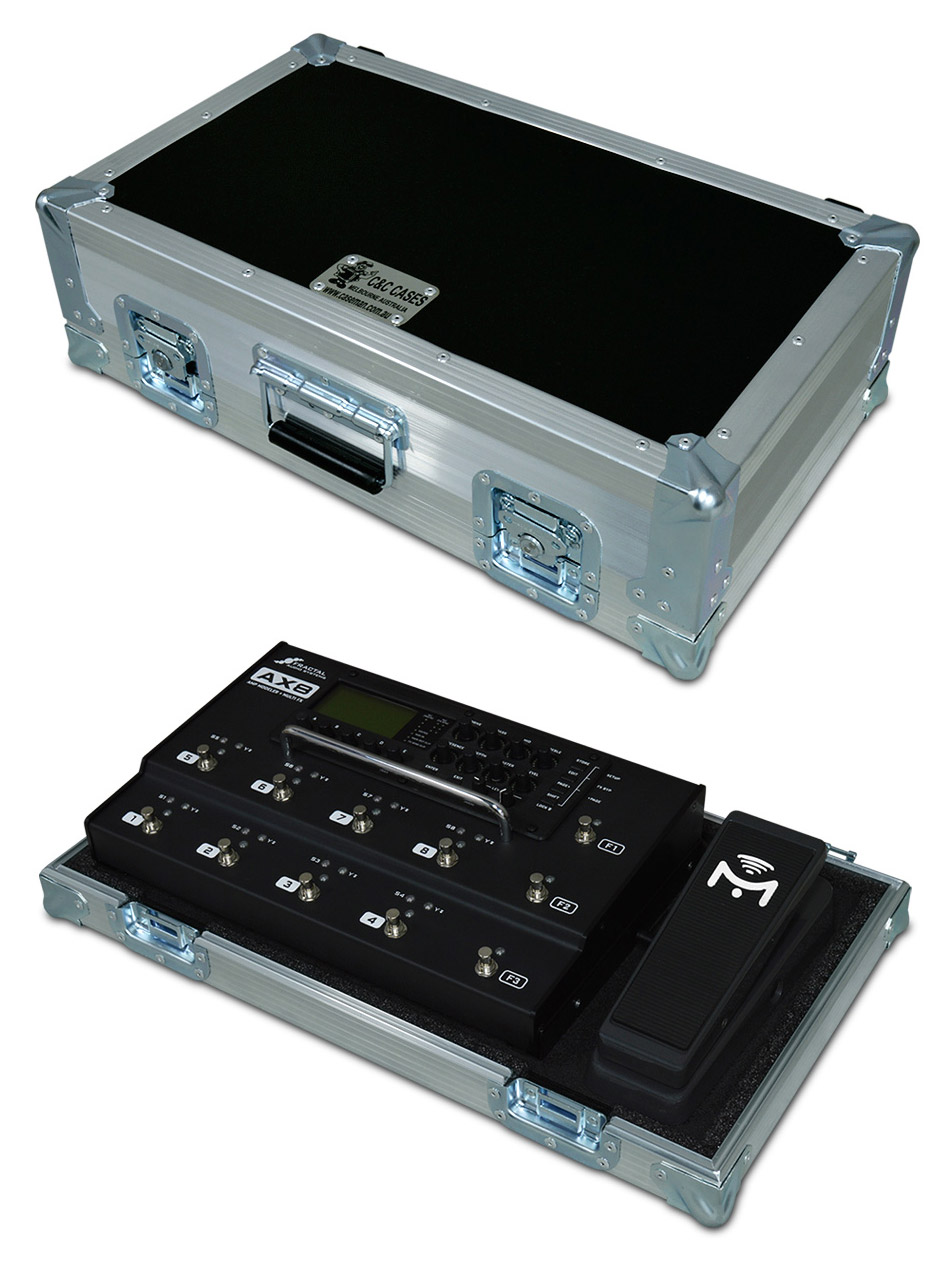 In my rig, I don't have the expression pedal pictured here, and instead use that spot to put the wireless receiver.