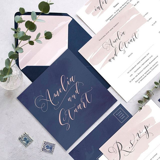 Our Amelia range is still very popular for 2019. With the ability to change the colours and have some extra special finishing touches including luxury envelopes, guest name printing and address labels we have your stationery needs covered! For more information about any of our designs please get in touch! . . . #wedding #stationery #bride #groom #weddingprep #engaged #weddinginvitations #savethedate #calligraphy #weddingstationery #wedmin #luxurywedding