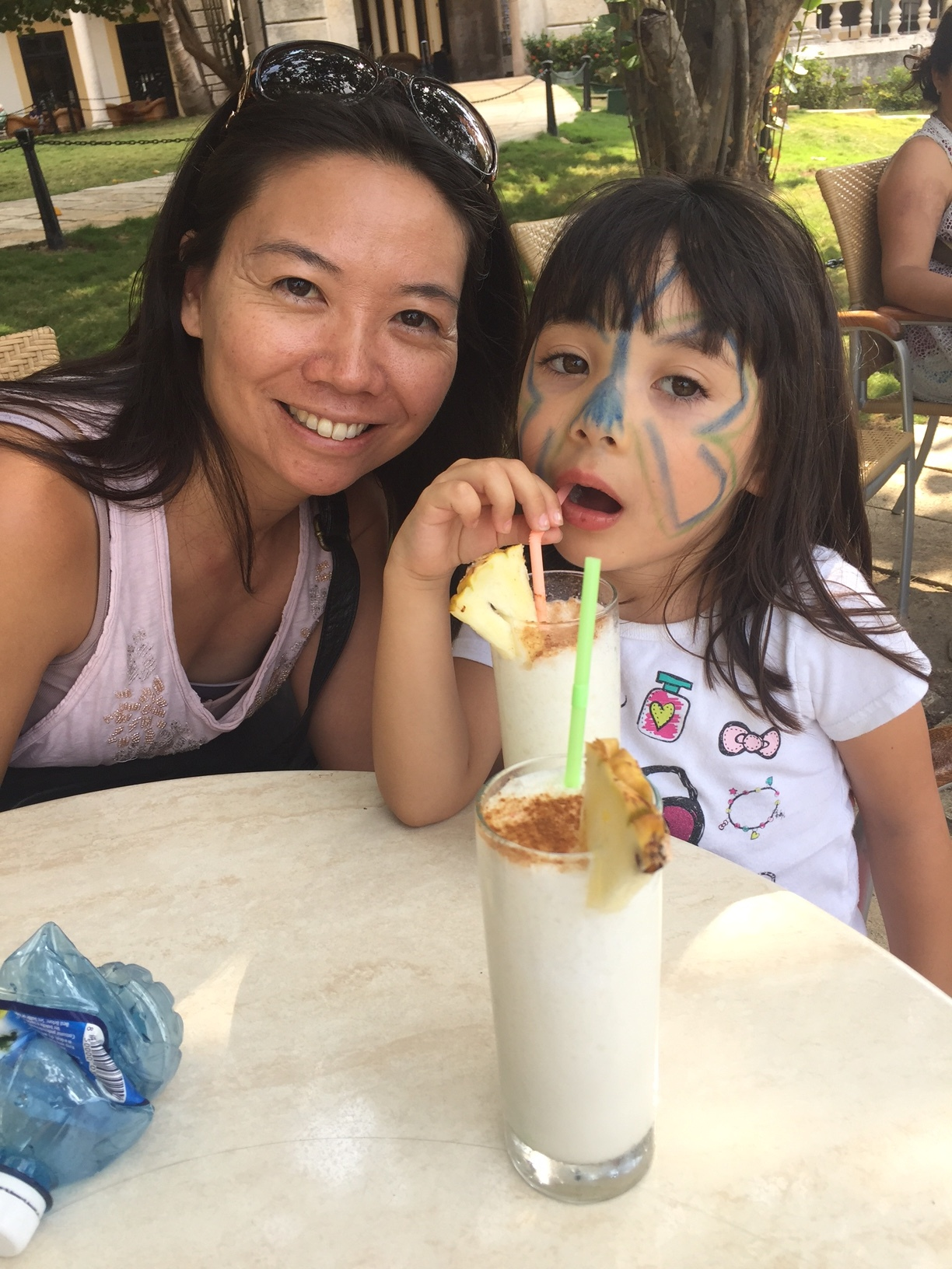 (At the Hotel National with daughter Sierra and virgin pina coladas ...Thanks, Judy, for the photo!)