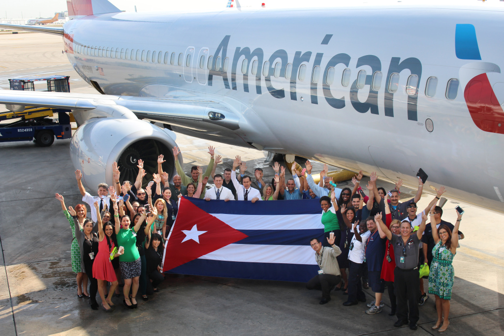 The start of direct flights means easier travel for American tourists -- and for some who live in Cuba. (Courtesy American Airlines.)