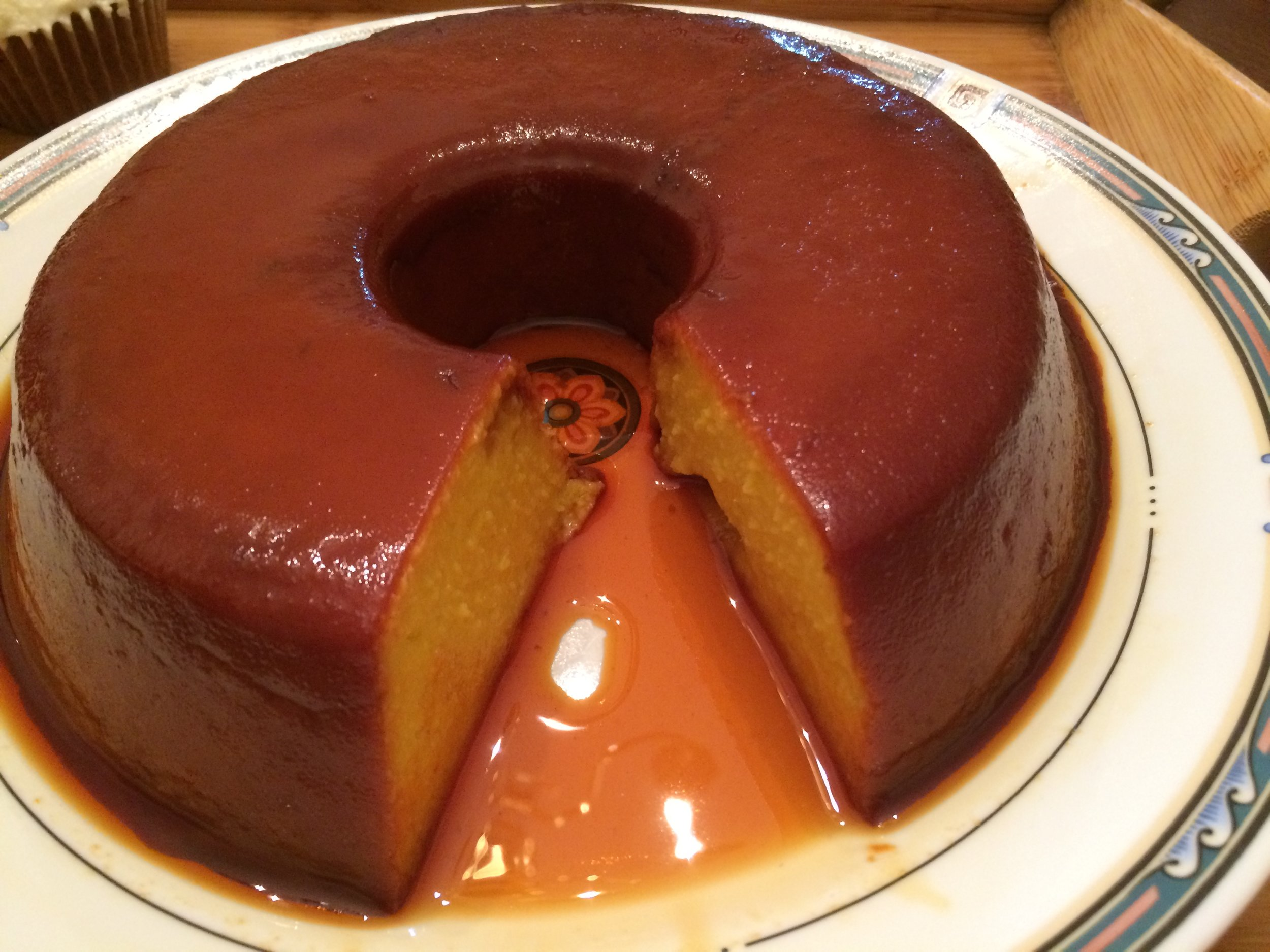 We're celebrating a Cuban Thanksgiving in our household with this pumpkin flan.