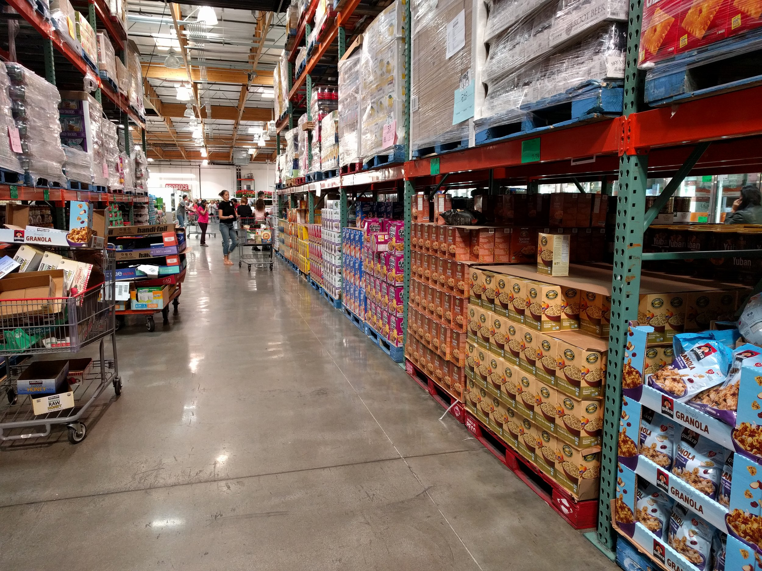 My daughter was overwhelmed at the aisles filled from floor to ceiling with food.