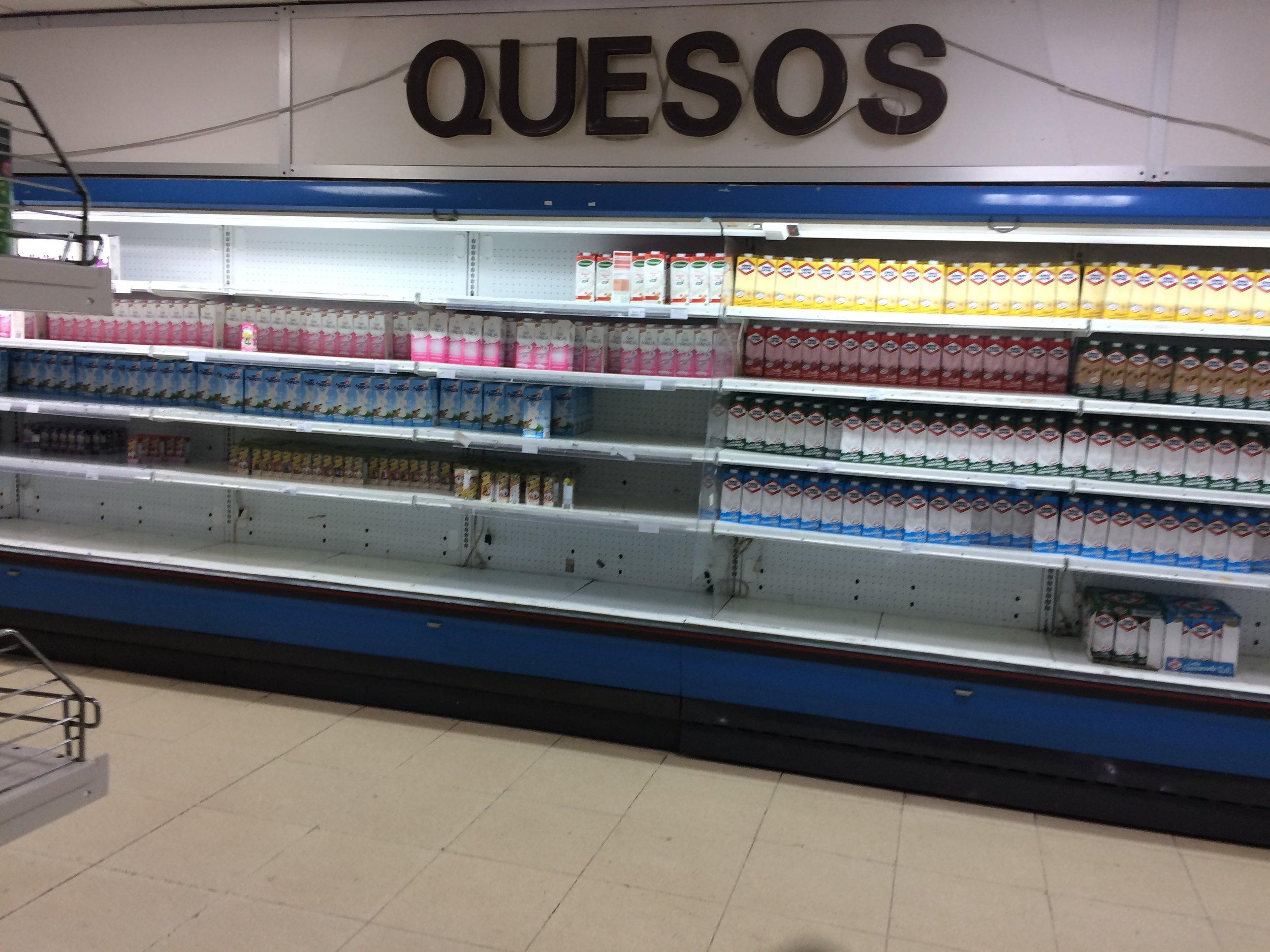 A Cuba supermarket on a good day.