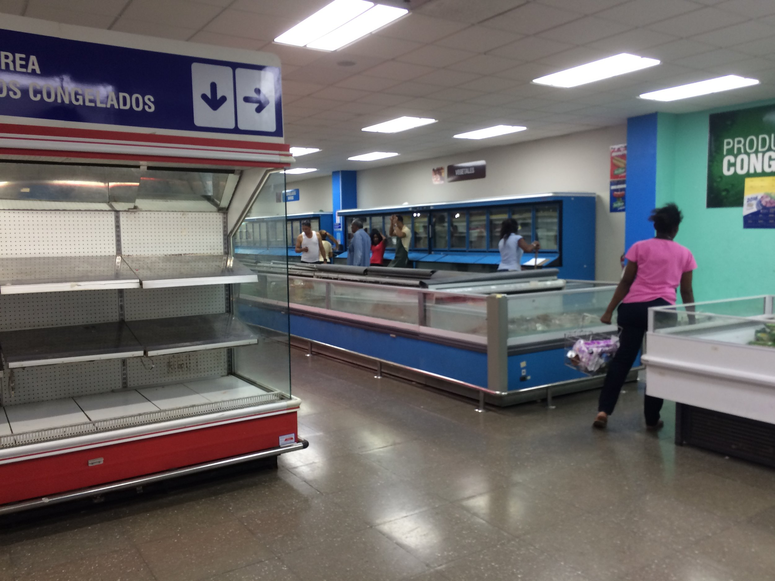 A Cuban supermarket on an average day.