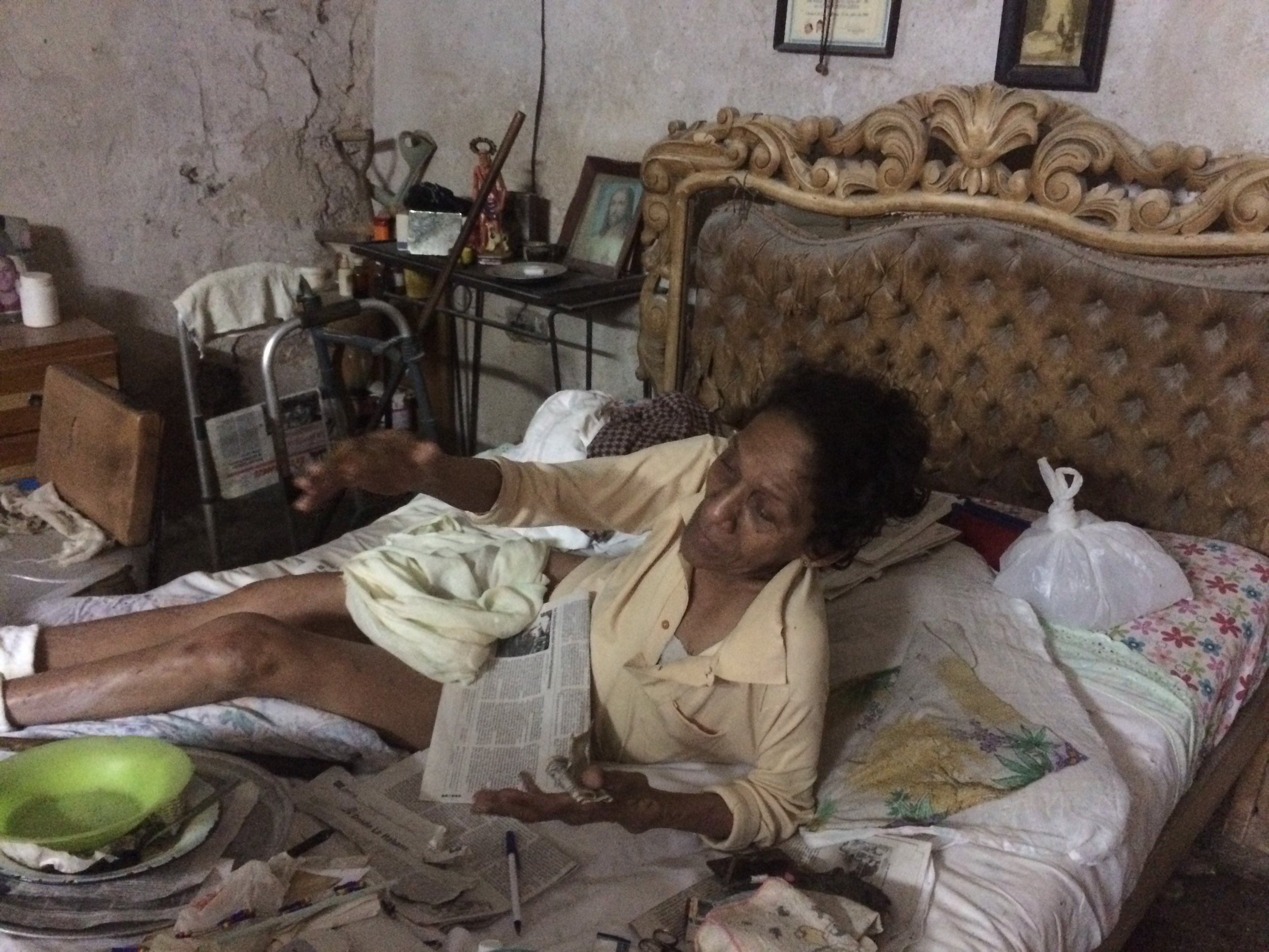 An example of how some elderly live in Cuba.