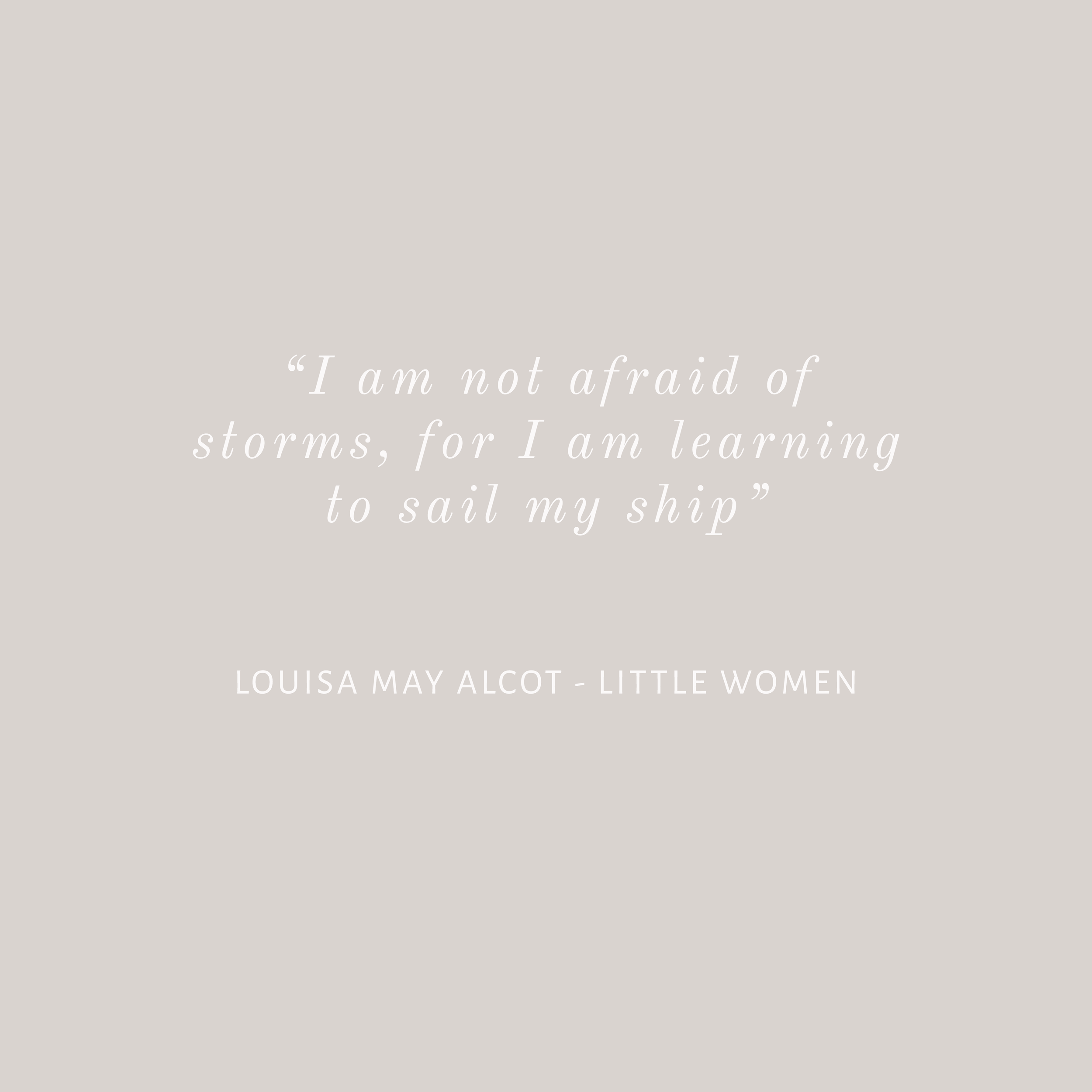 Little Women quote Bea & Bloom Creative Design Studio