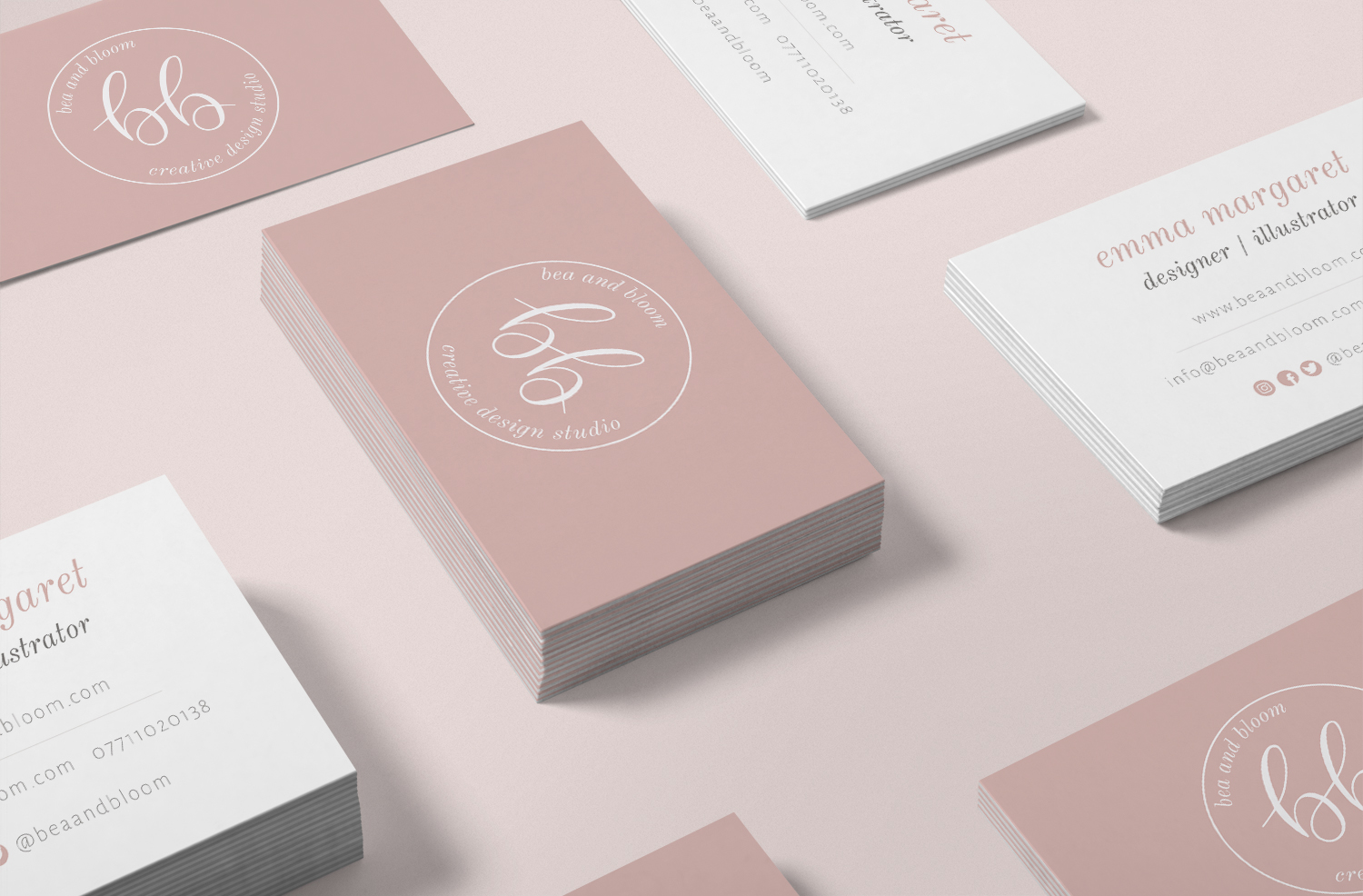 Logo & Branding Business Cards by Bea & Bloom Creative Design Studio