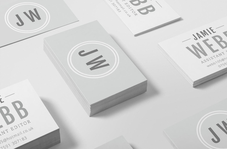 Jamie Webb Assistant Editor Logo & Branding Business Cards by Bea & Bloom Creative Design Studio