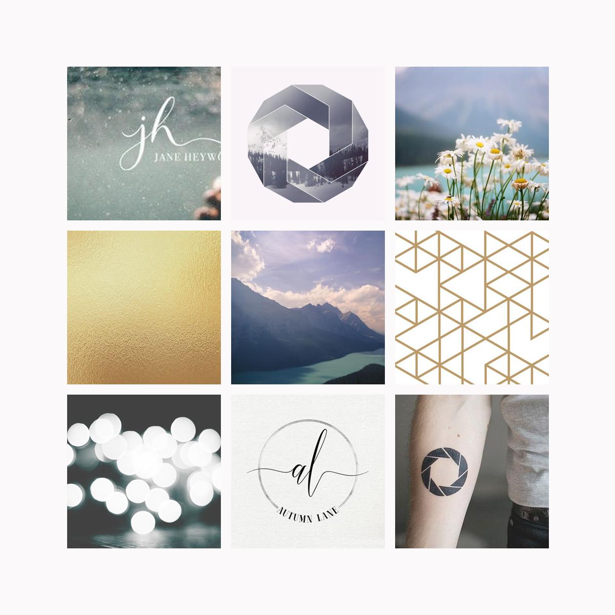 Moments Photo Studio mood board Logo & Branding Design Bea & Bloom Creative Design Studio