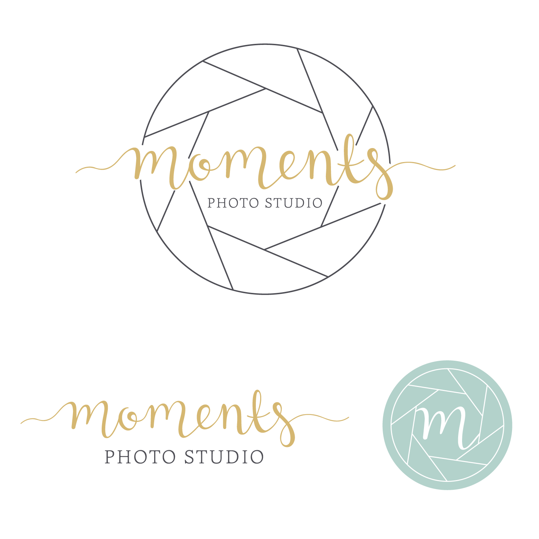 Moments Photo Studio Logo & Branding Design Bea & Bloom Creative Design Studi