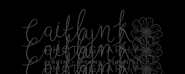 Caitlyn K Photography Logo & Branding Design Bea & Bloom Creative Design Studio