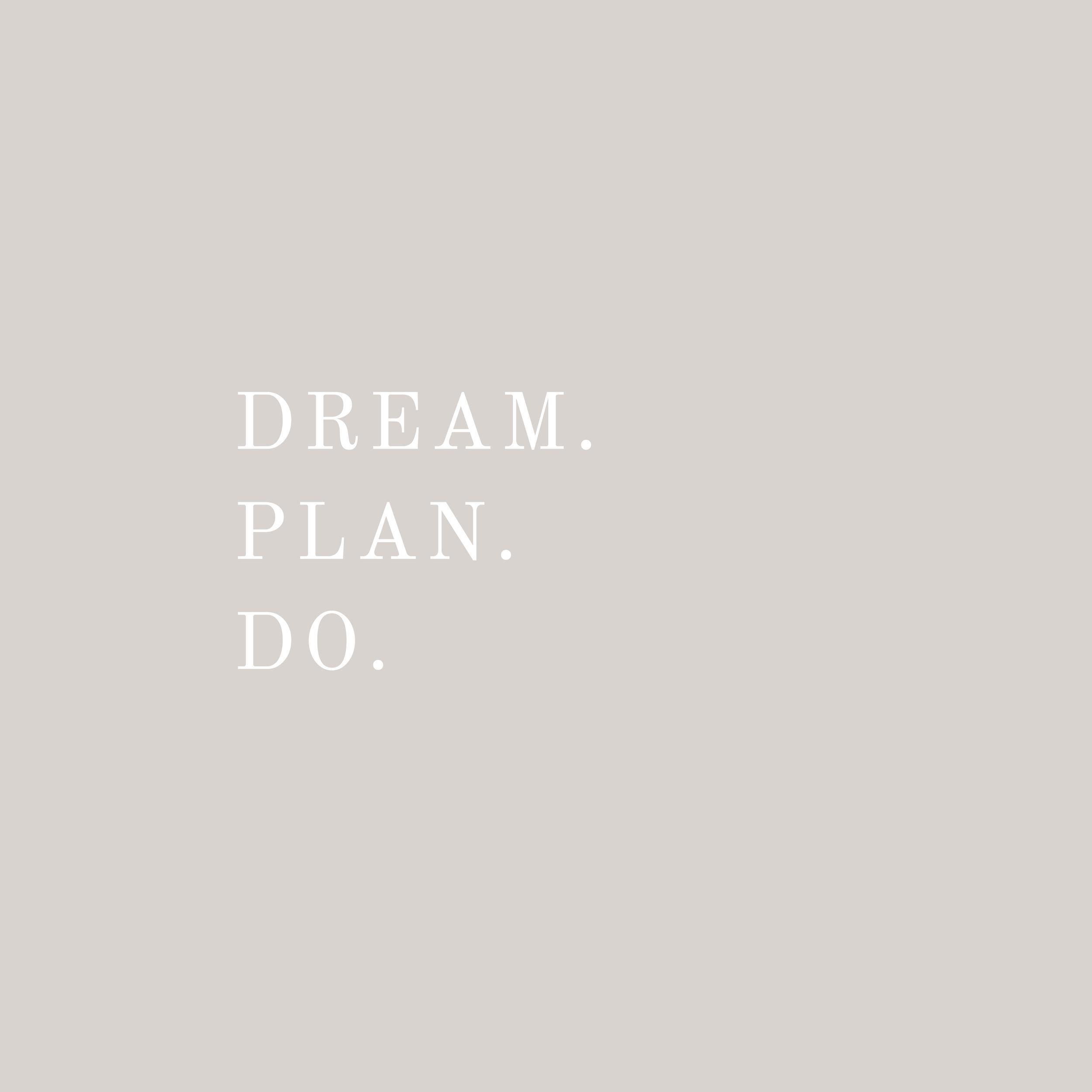 dream, plan, do