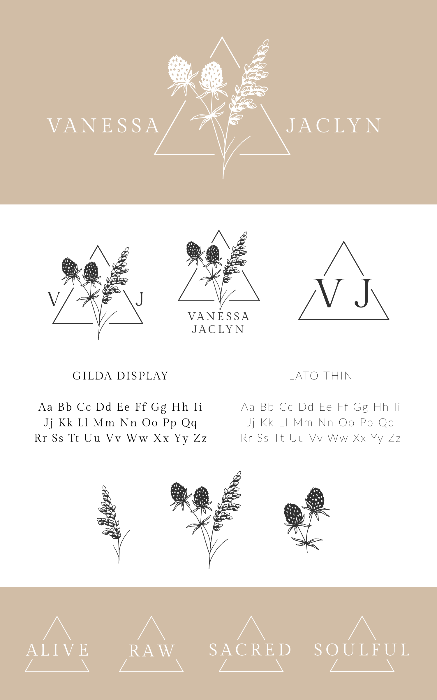 Vanessa Jaclyn Photography Logo & Branding by Bea & Bloom Creative Design Studio Mood board
