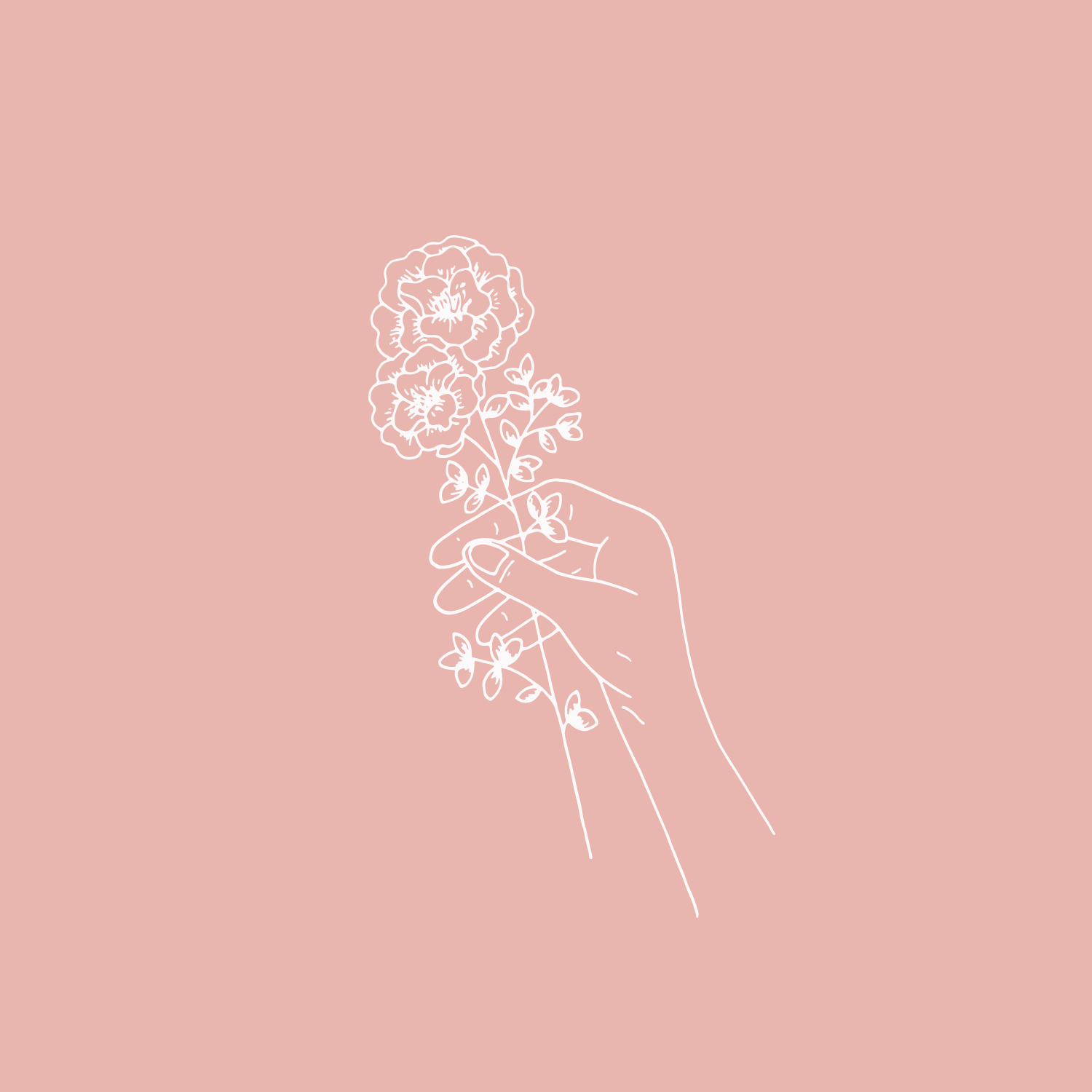 Floral hand illustration #the100dayproject by Bea & Bloom Creative Design Studio
