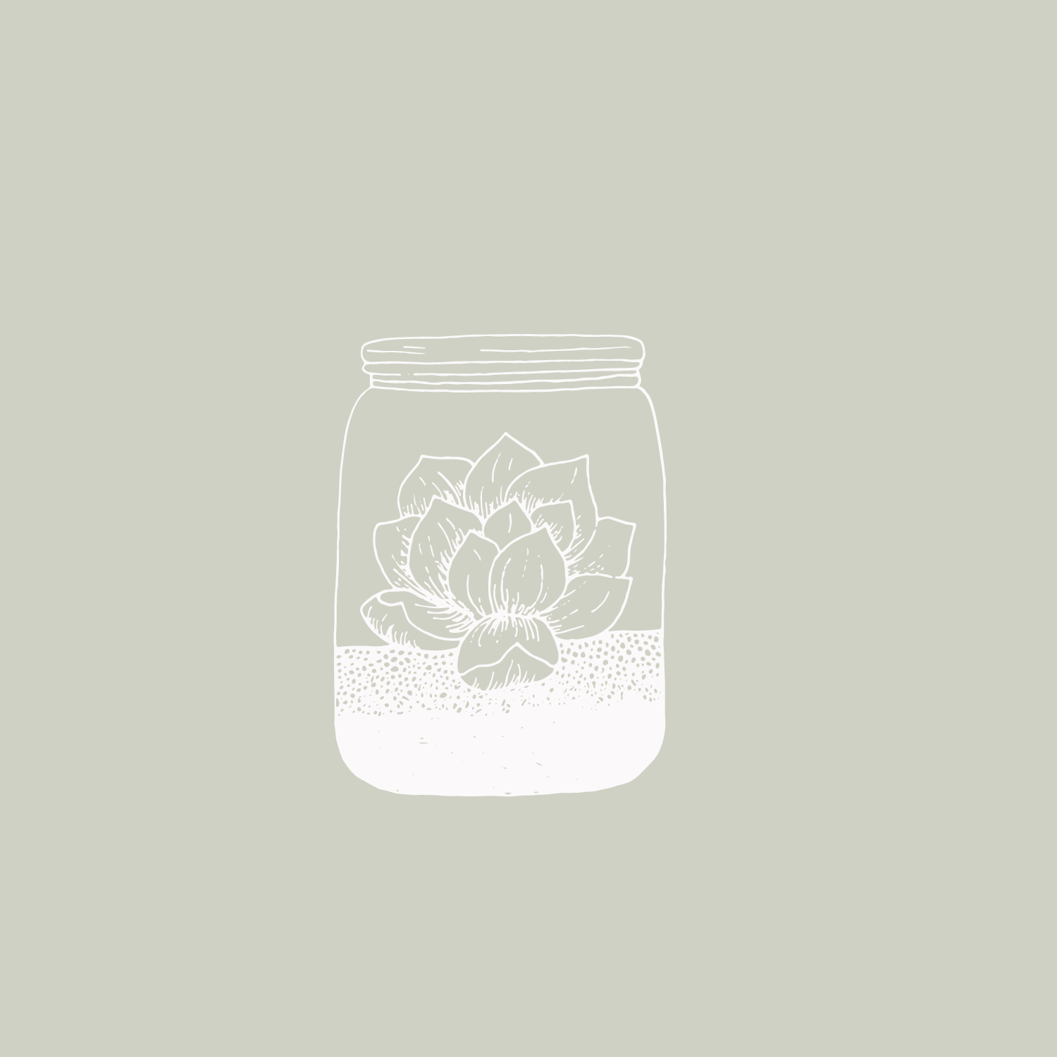 Succulent jar terrarium illustration #the100dayproject by Bea & Bloom Creative Design Studio