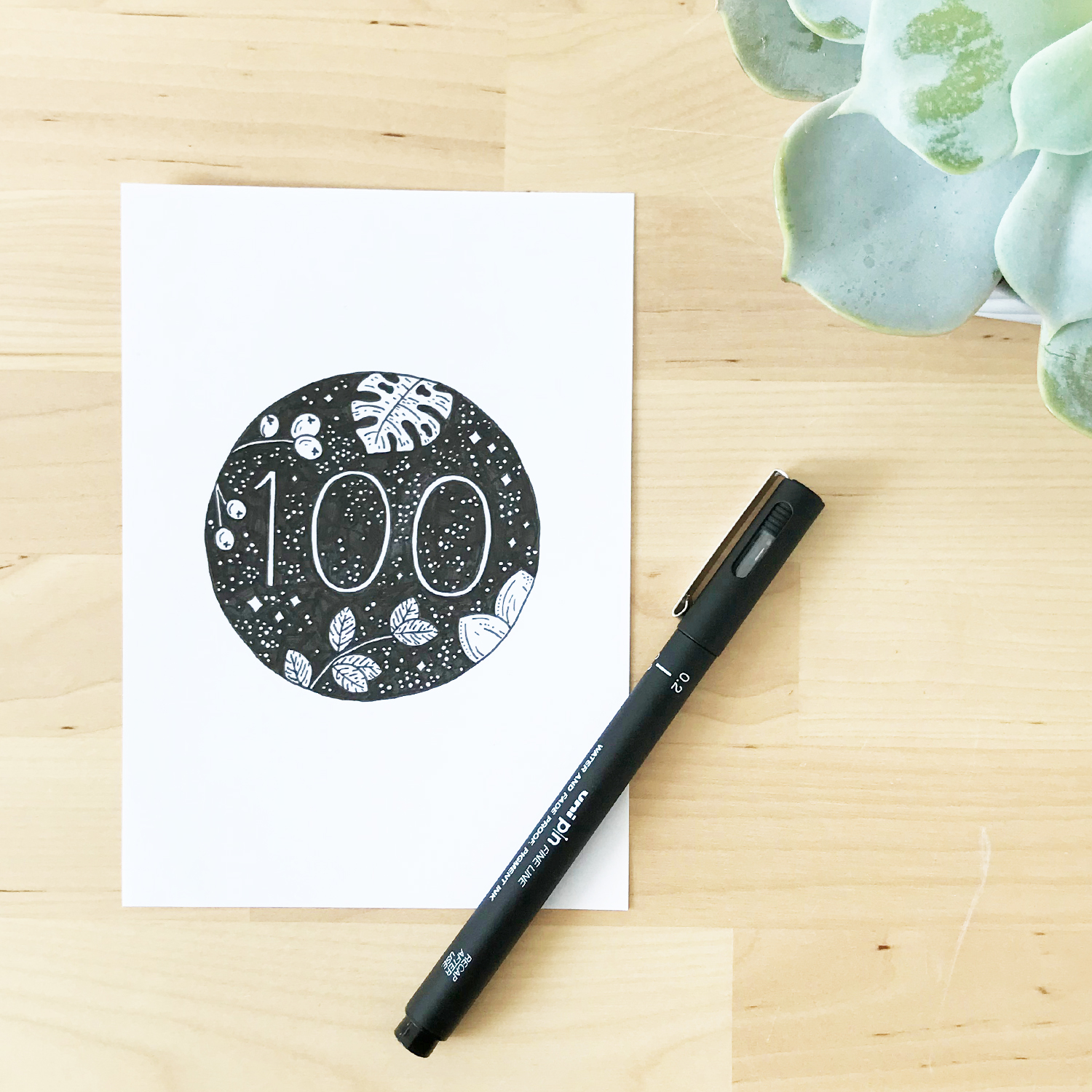Sketchbook Illustration - the100dayproject - Bea & Bloom Creative Design Studio