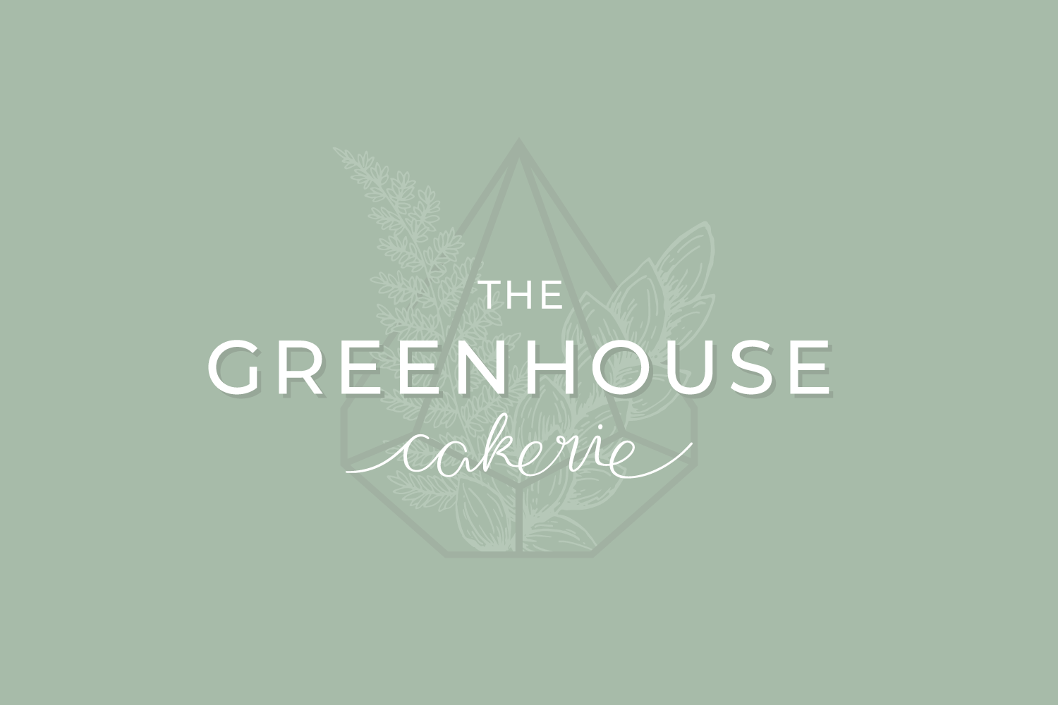 The Greenhouse Cakerie - Logo and Branding design for small businesses by Bea & Bloom Creative Design Studio