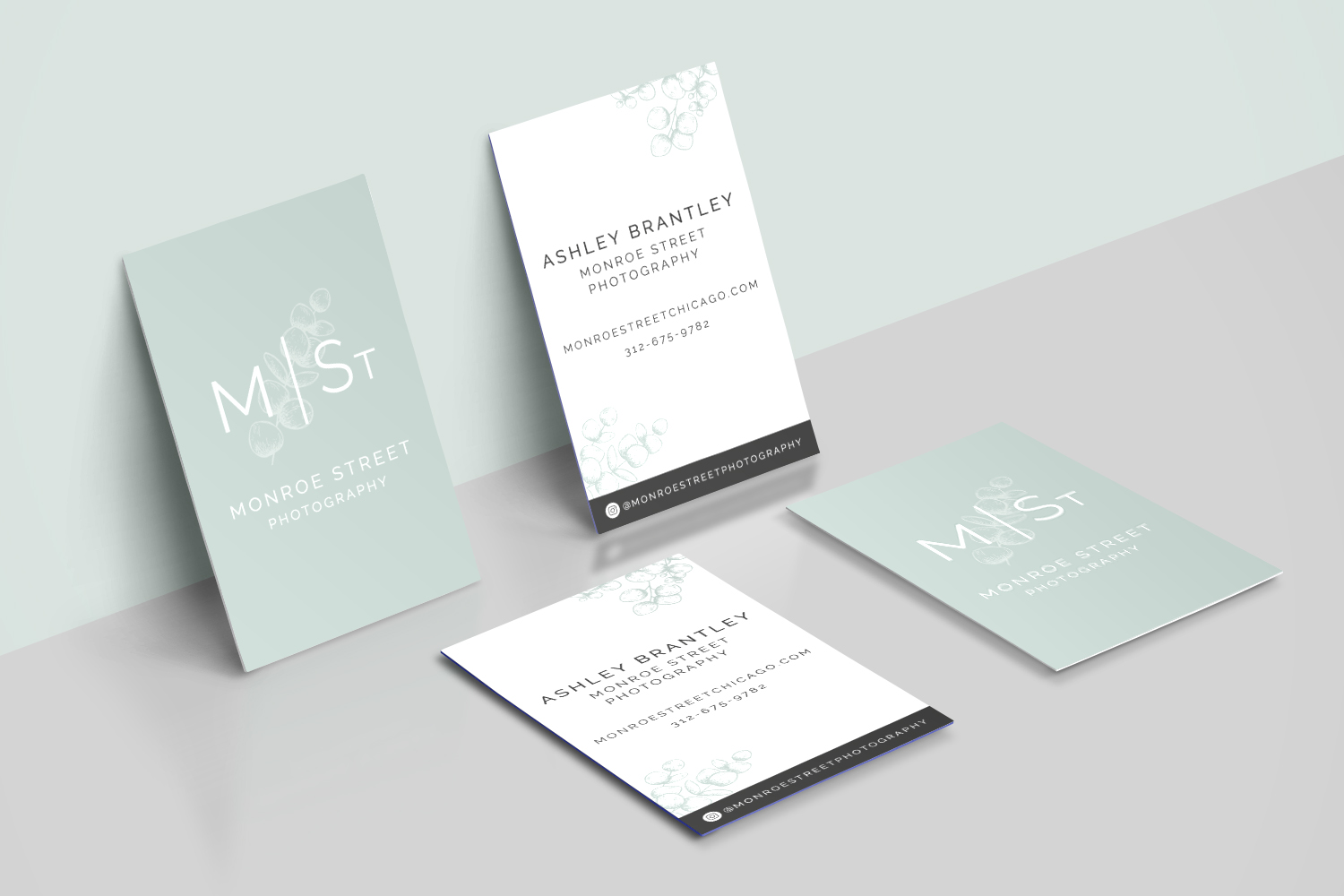 Monroe Street Photography - Logo and Branding design for small businesses by Bea & Bloom Creative Design Studio