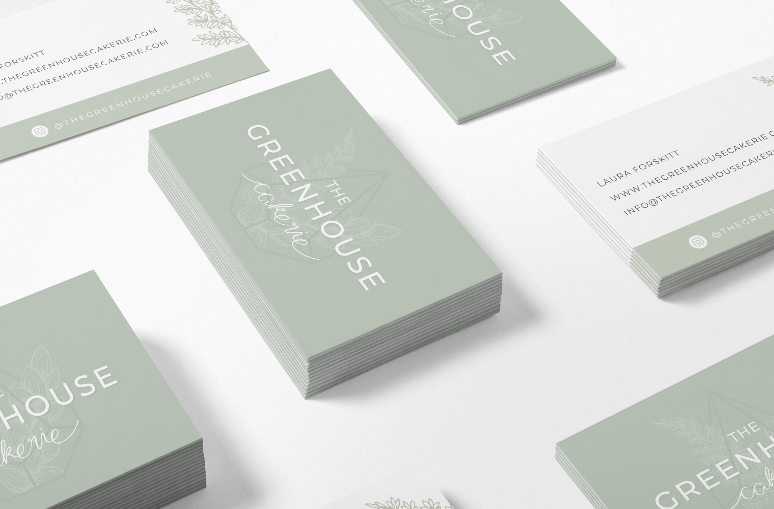 The Greenhouse Cakerie - Logo & Brand Design by Bea & Bloom Creative Design Studio