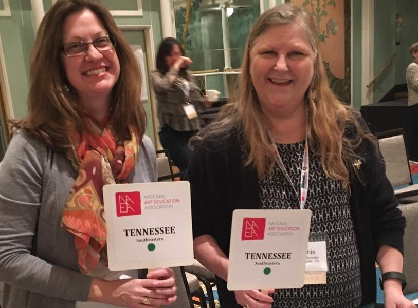 TAEA President-Elect, Kathy Dumlao (right) and President, Janis Nunnally (left) take on the NAEA Conference 2017.