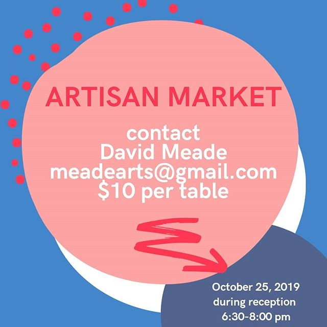 If you want to show, sell, and put your items in front of art teachers sign up now.