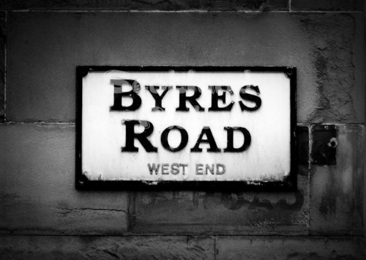 Byres Road street sign