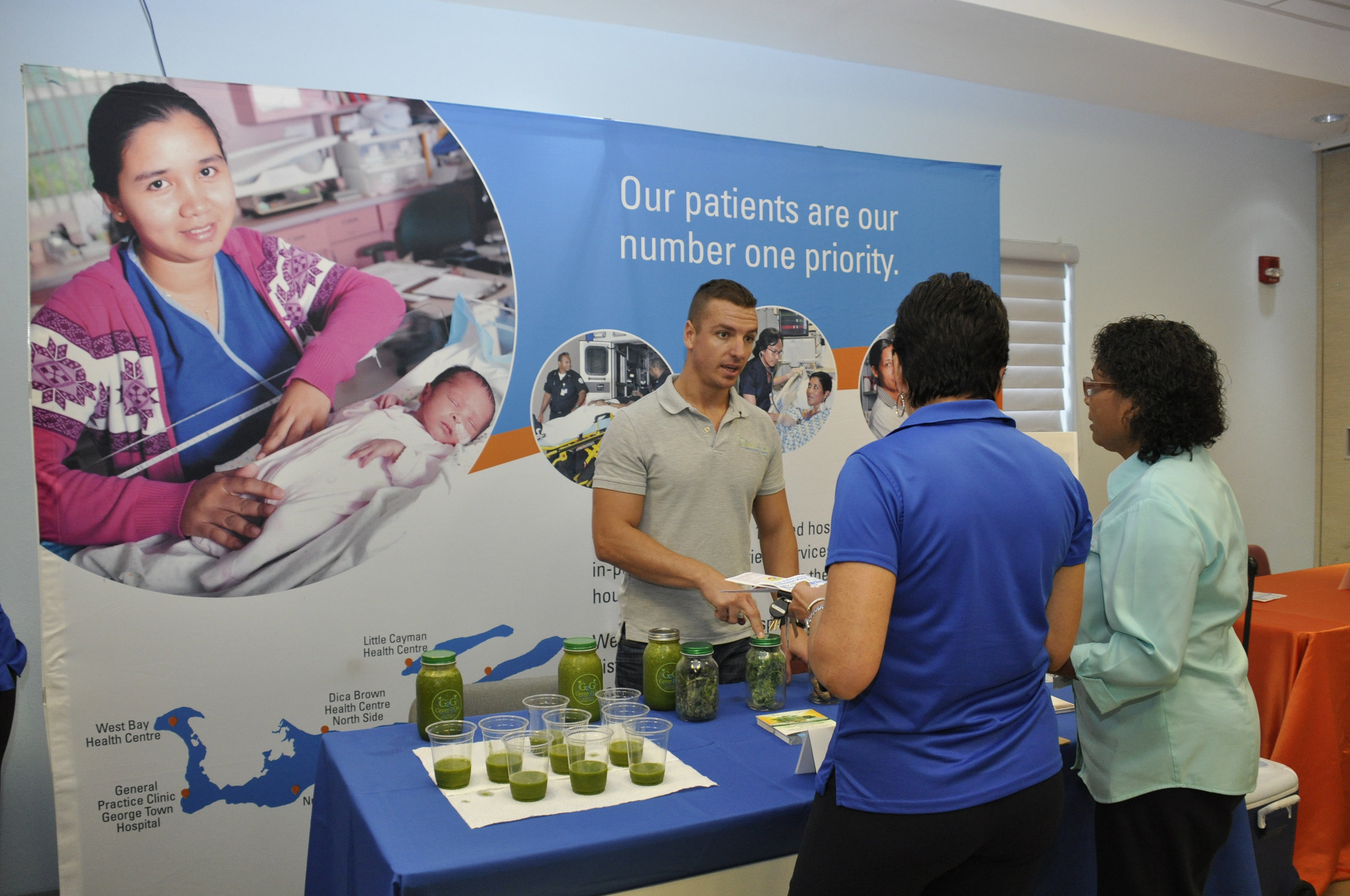 Green smoothies to help stay on the right path to health at our wellness launch fair